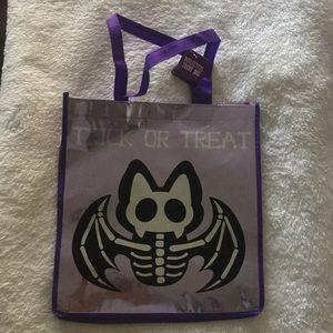 purple Halloween bat reflective tote/treat bag🦇